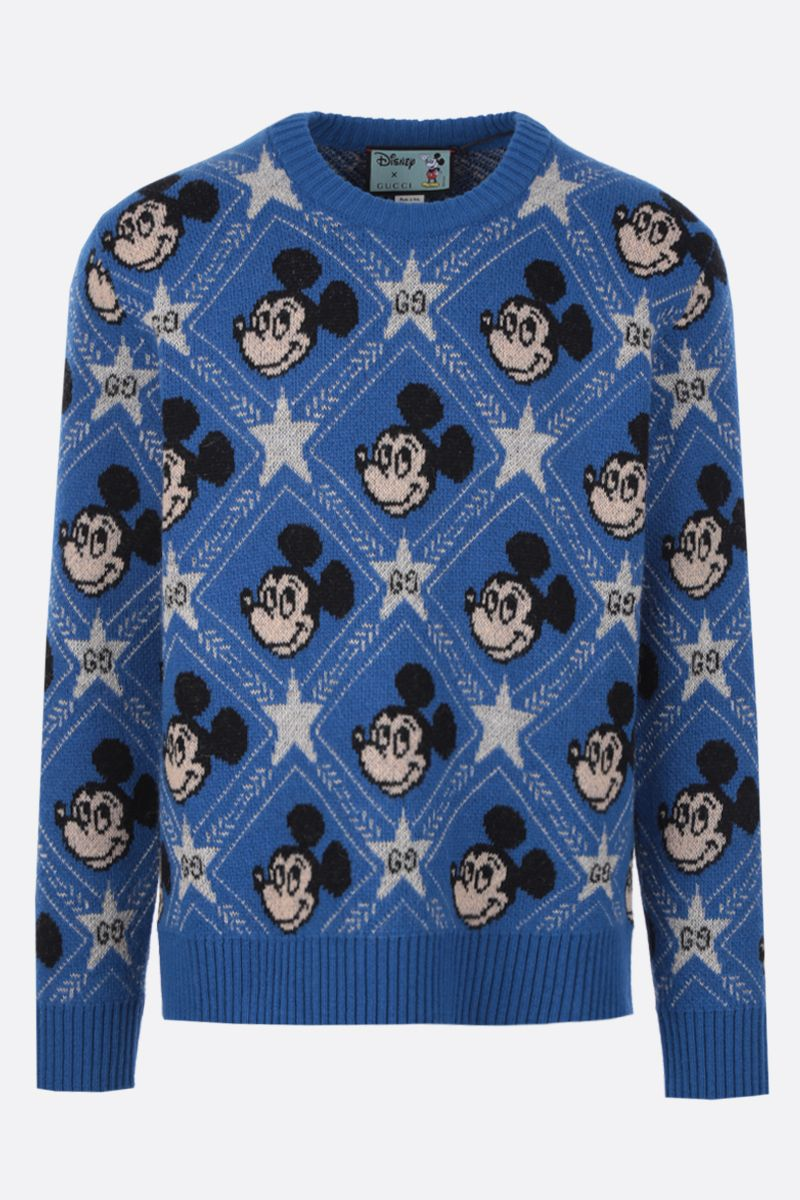 GUCCI: Disney x Gucci wool pullover Color Blue_1
