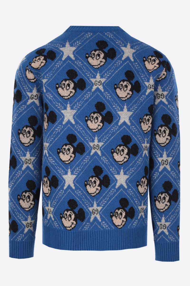 GUCCI: Disney x Gucci wool pullover Color Blue_2