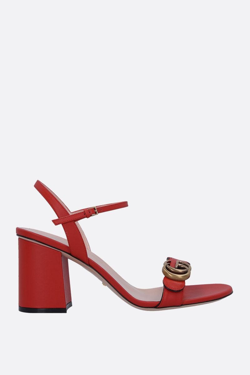 GUCCI: GG Marmont sandals in smooth leather_1