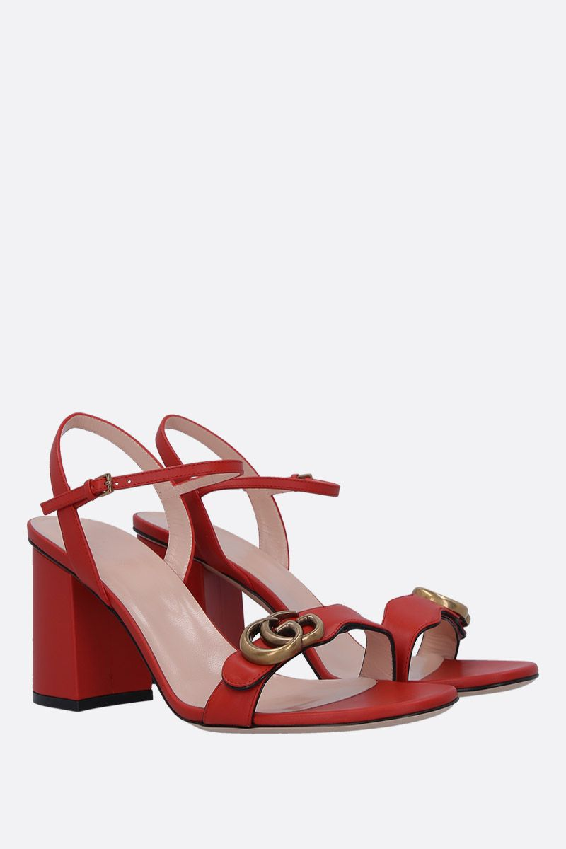 GUCCI: GG Marmont sandals in smooth leather_2