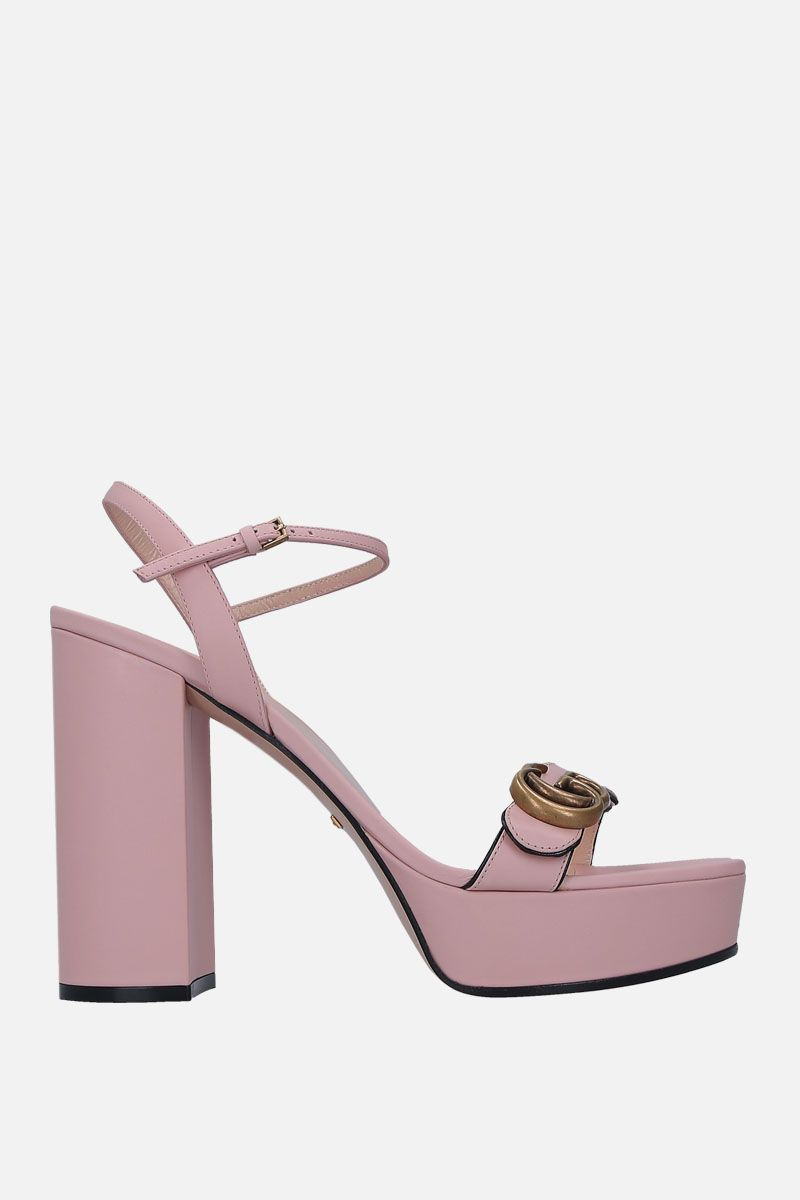 GUCCI: smooth leather platform sandals_1