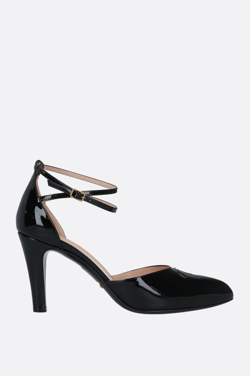 GUCCI: patent leather d'orsay pumps Color Black_1