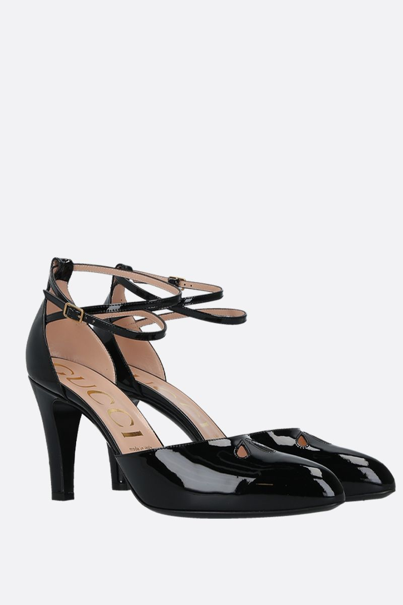 GUCCI: patent leather d'orsay pumps Color Black_3