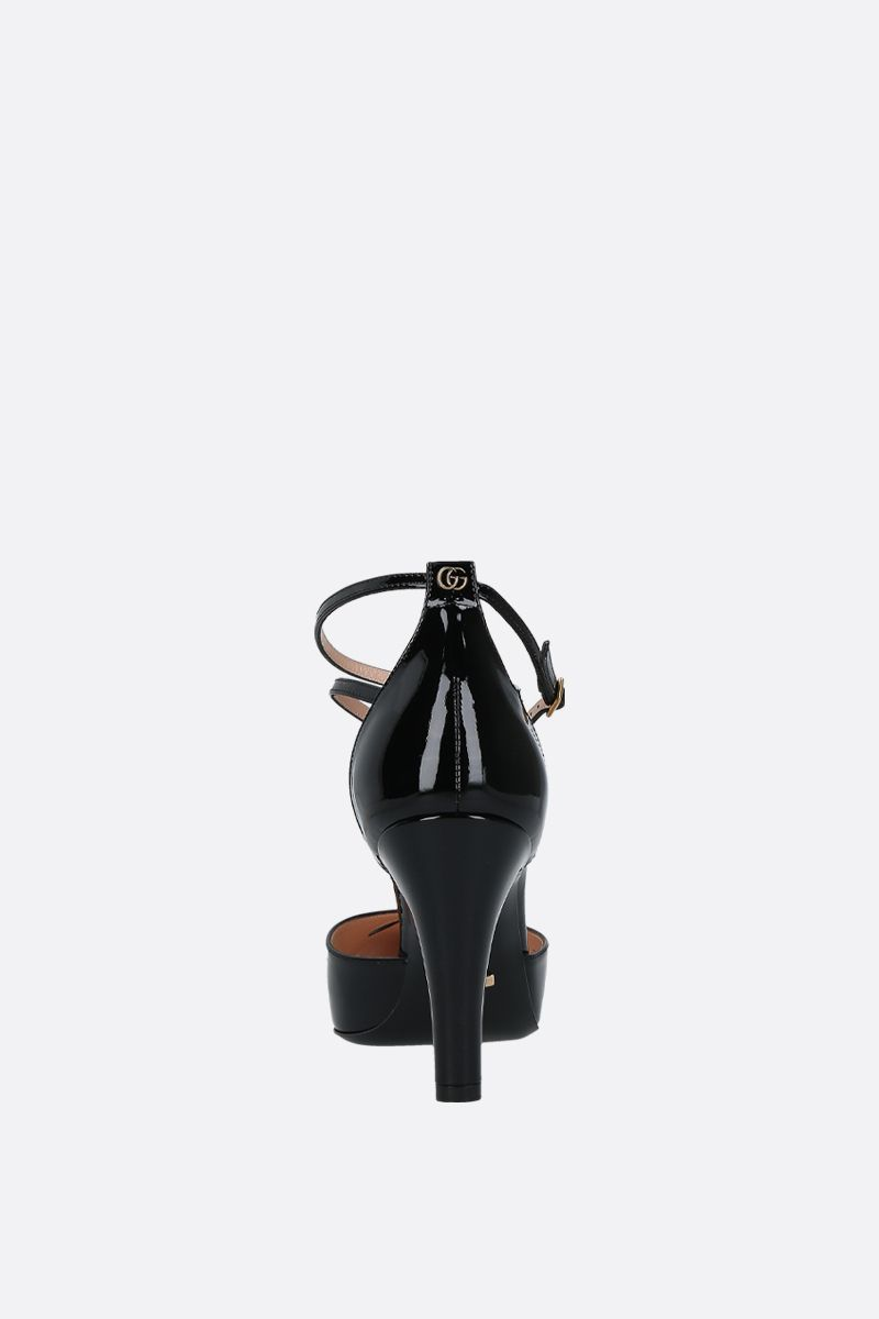 GUCCI: patent leather d'orsay pumps Color Black_4