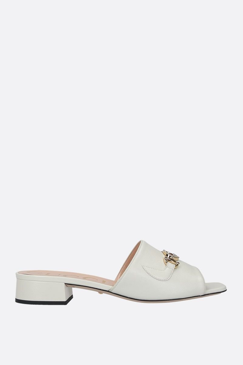 GUCCI: Gucci Zumi slide sandals in smooth leather_1