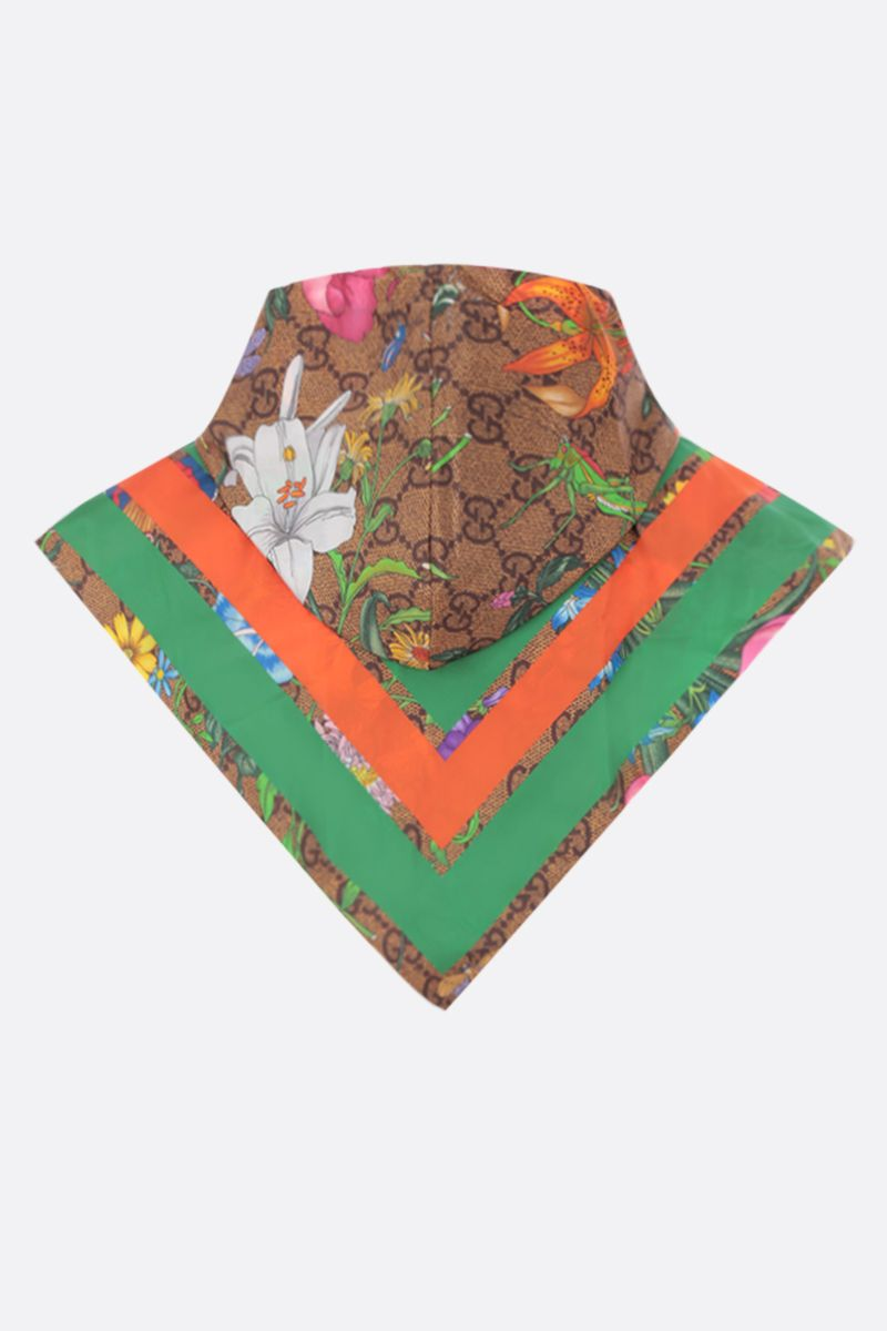 GUCCI: GG Flora print nylon hood Color Multicolor_2