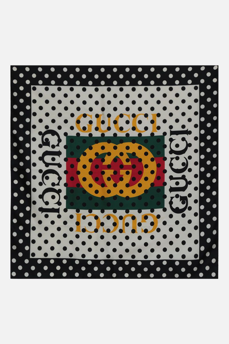 GUCCI: silk twill foulard Color Multicolor_2