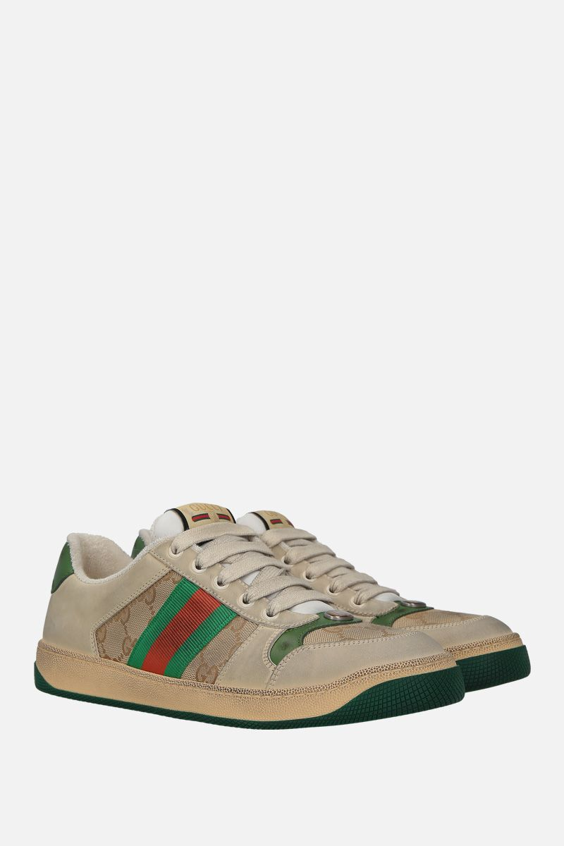 GUCCI: sneaker Screener in nabuk e canvas_2