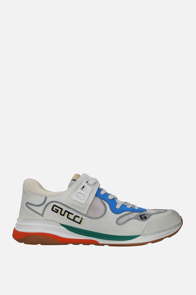 GUCCI: Ultrapace sneakers in a mix of leathers and fabrics Color Multicolor_1
