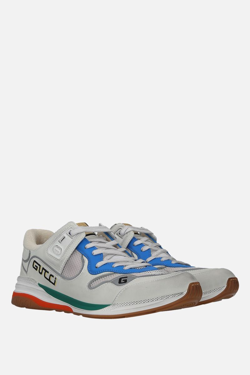 GUCCI: Ultrapace sneakers in a mix of leathers and fabrics Color Multicolor_2