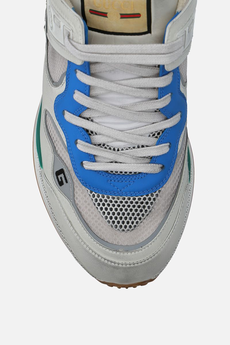 GUCCI: Ultrapace sneakers in a mix of leathers and fabrics Color Multicolor_4