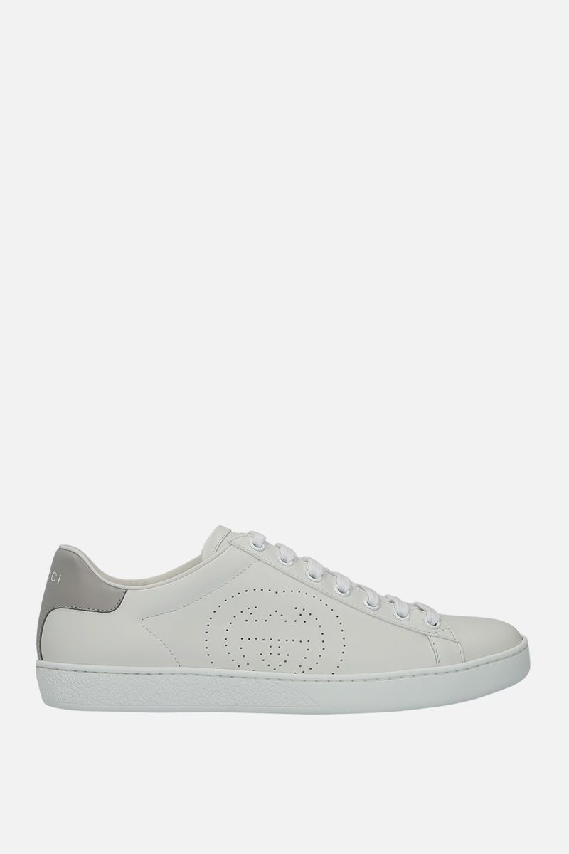 GUCCI: Ace smmoth leather sneakers_1