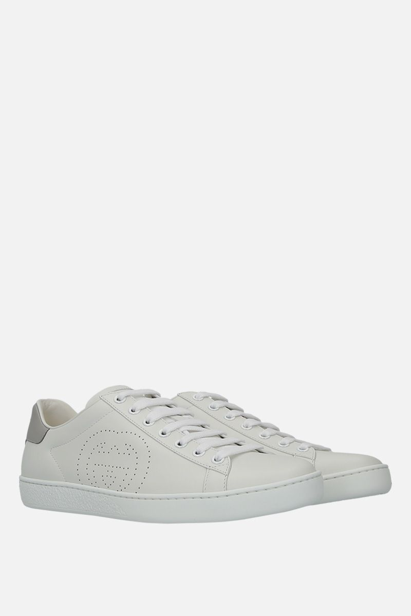 GUCCI: Ace smmoth leather sneakers_2