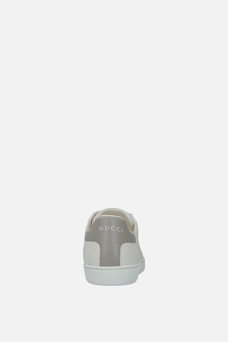 GUCCI: Ace smmoth leather sneakers_3