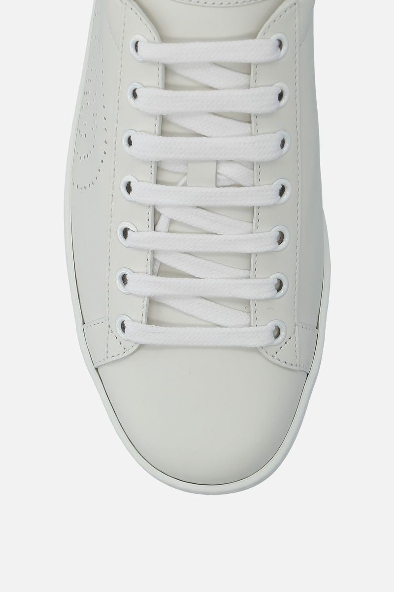 GUCCI: Ace smmoth leather sneakers_4
