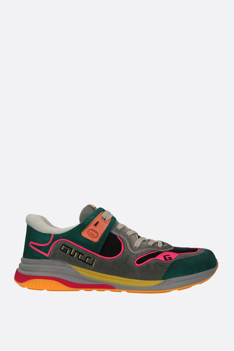 GUCCI: Ultrapace sneakers in a mix of leathers and fabrics_1