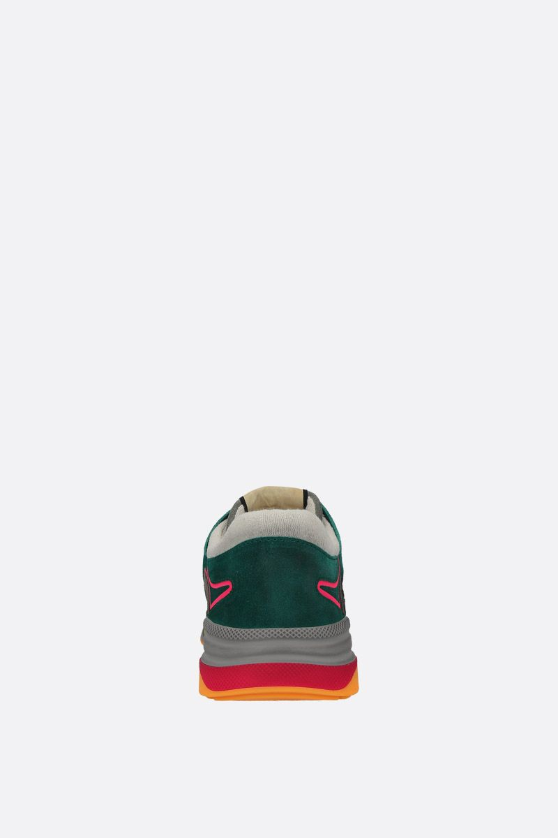 GUCCI: Ultrapace sneakers in a mix of leathers and fabrics Color Multicolor_3