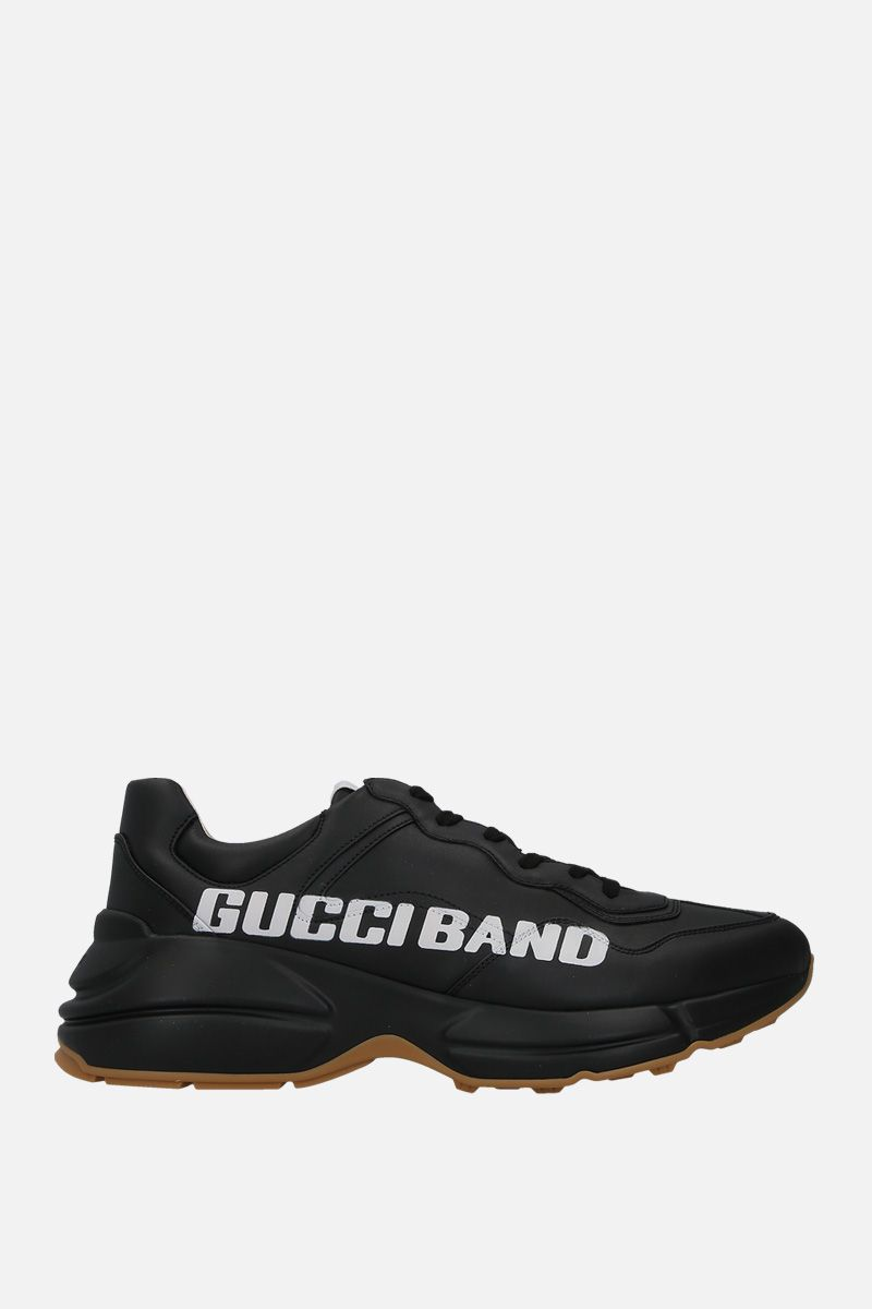 GUCCI: Rhyton sneakers in smooth leather Color Black_1