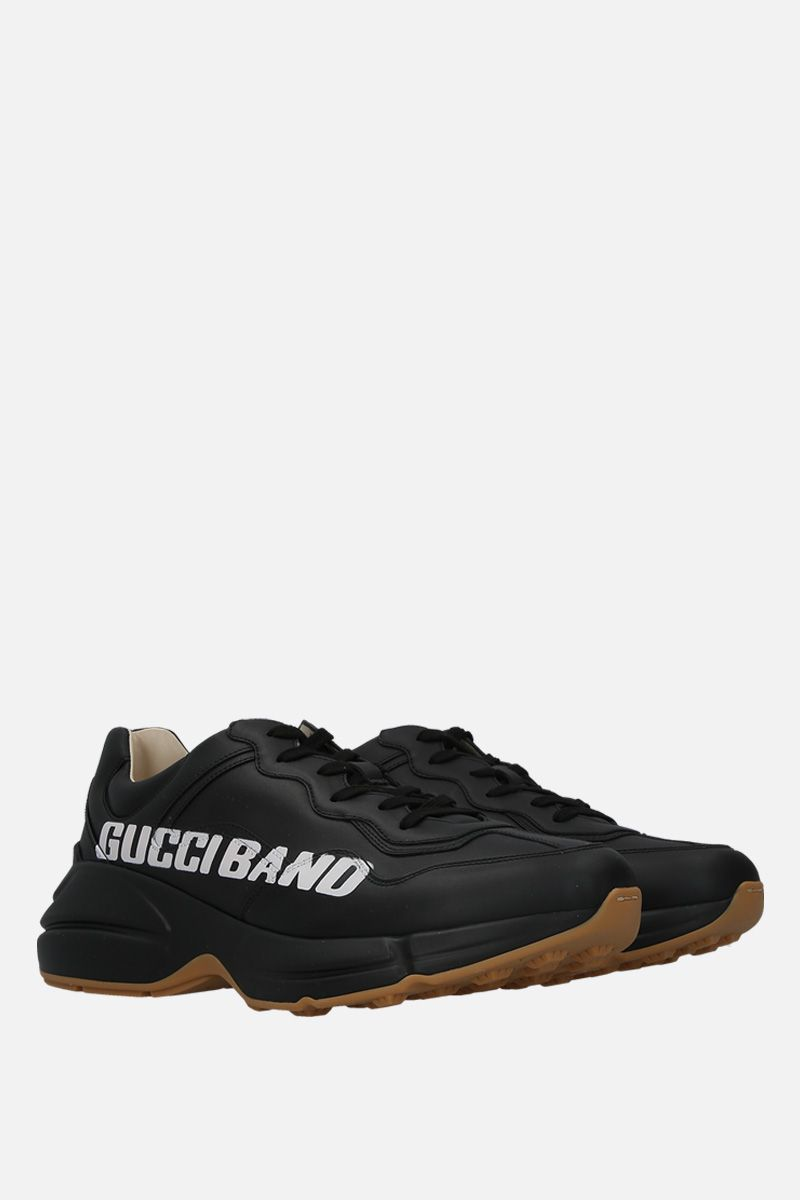 GUCCI: Rhyton sneakers in smooth leather Color Black_2