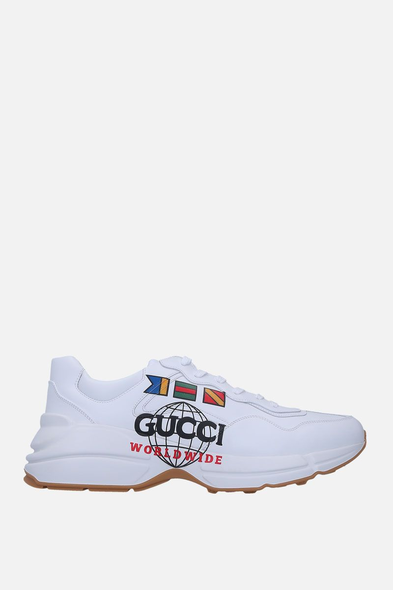 GUCCI: Rython sneakers in smooth leather Color White_1