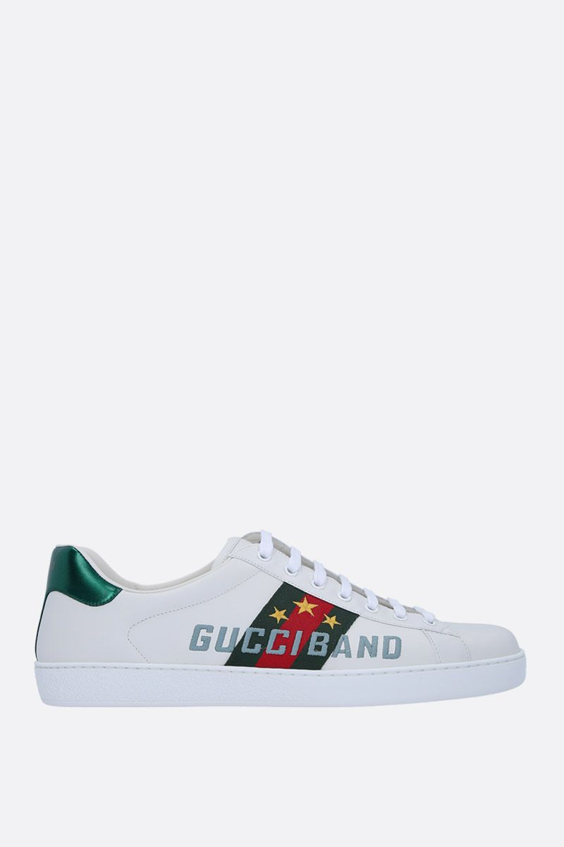 GUCCI: Ace leather sneakers with Gucci Band embroidery Color Multicolor_1