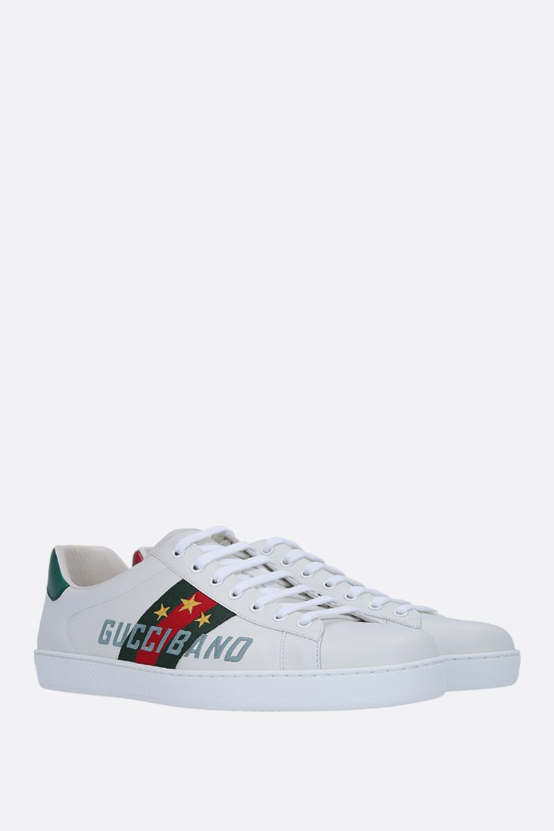GUCCI: Ace leather sneakers with Gucci Band embroidery Color Multicolor_2