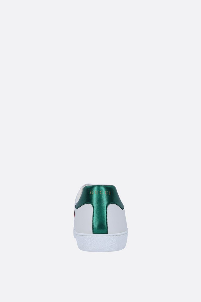 GUCCI: Ace leather sneakers with Gucci Band embroidery Color Multicolor_3