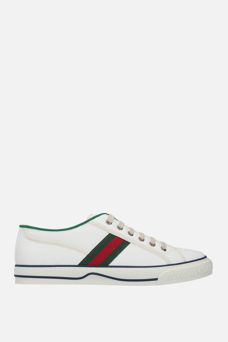 GUCCI: Gucci Tennis 1977 jacquard fabric sneakers_1