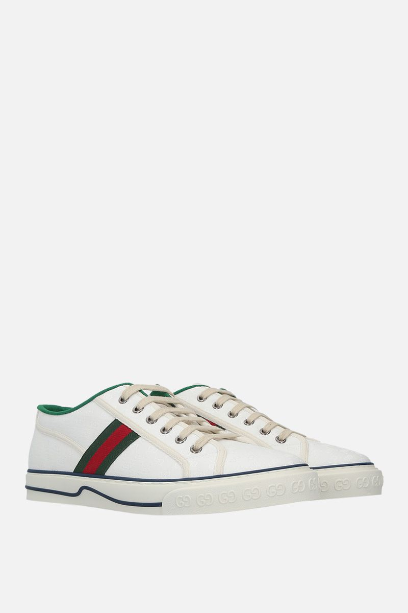GUCCI: Gucci Tennis 1977 jacquard fabric sneakers_2