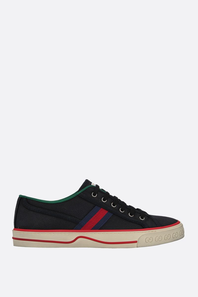GUCCI: Gucci Tennis 1977 canvas sneakers Color Black_1