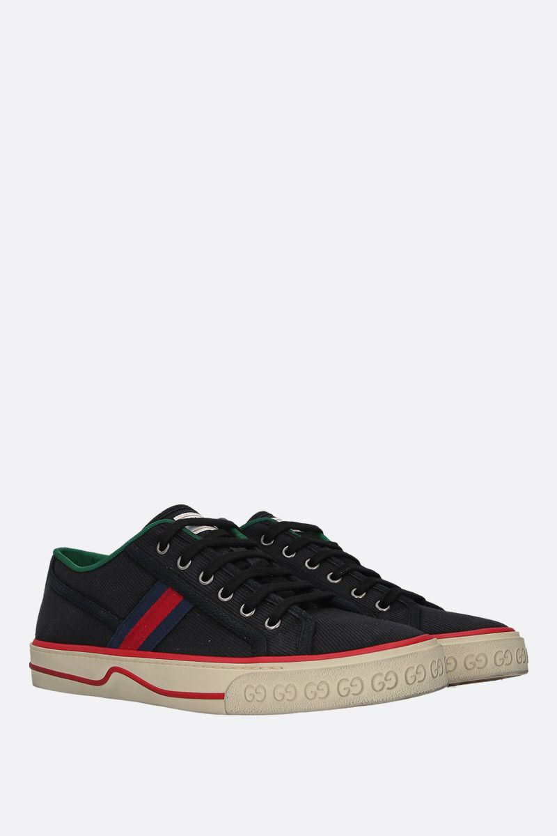 GUCCI: Gucci Tennis 1977 canvas sneakers Color Black_2