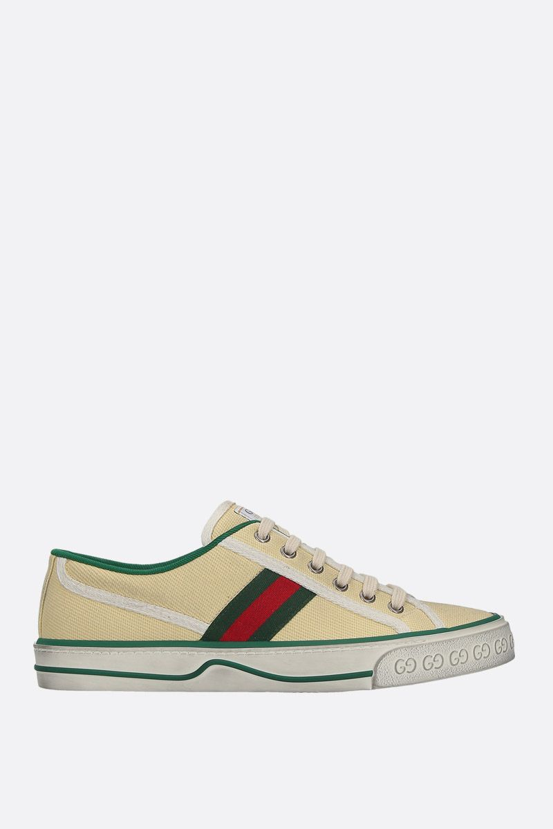 GUCCI: Gucci Tennis 1977 canvas sneakers Color White_1