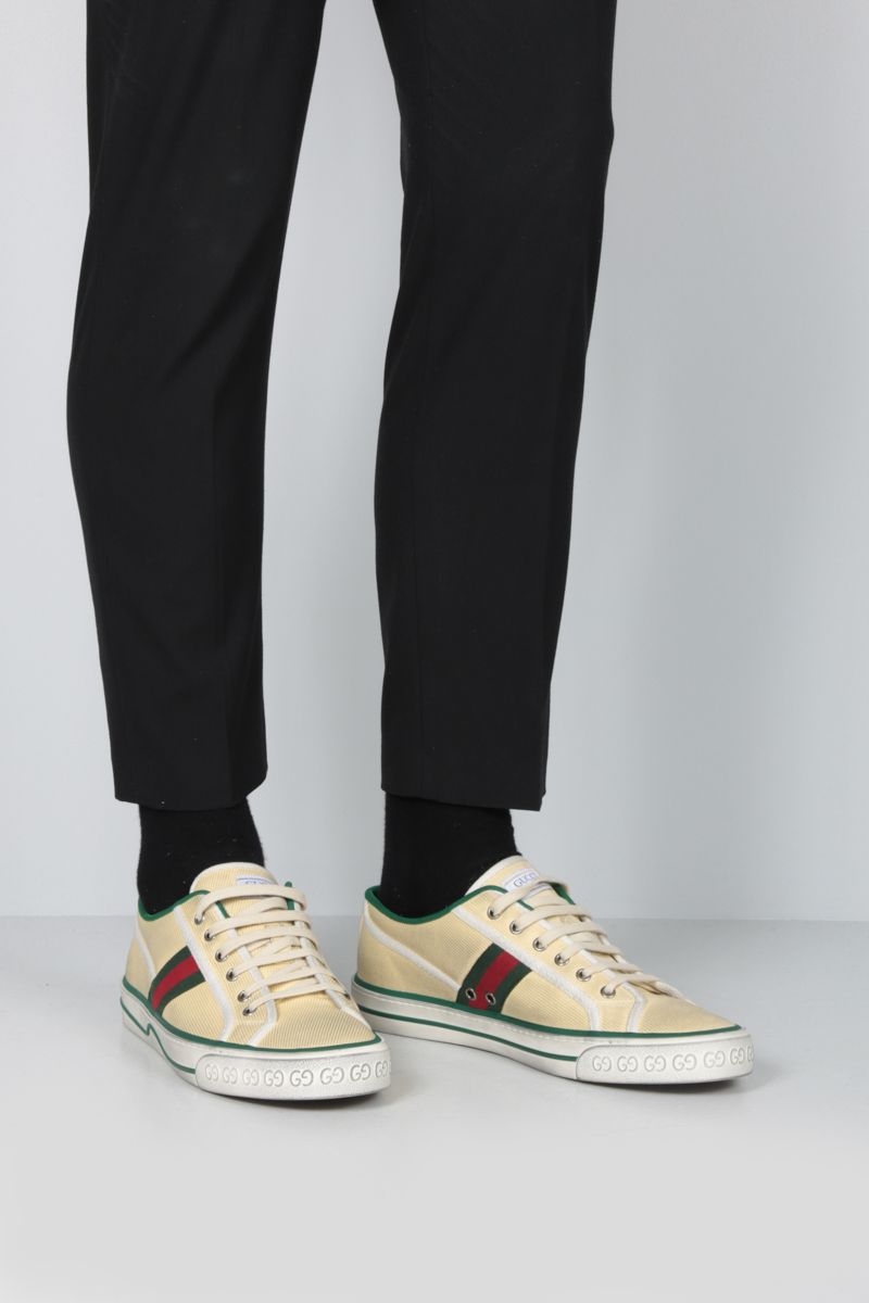 GUCCI: Gucci Tennis 1977 canvas sneakers Color White_2
