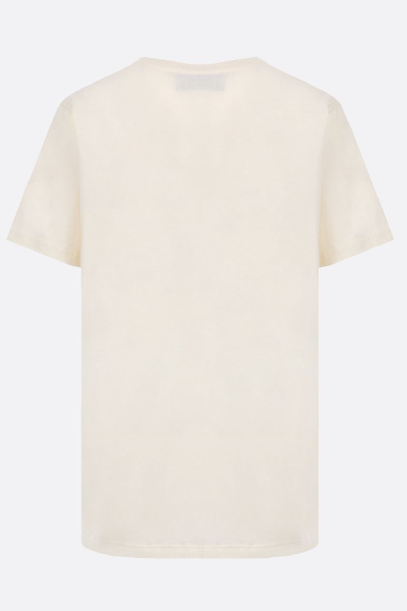 GUCCI: oversize GG print cotton t-shirt Color White_2