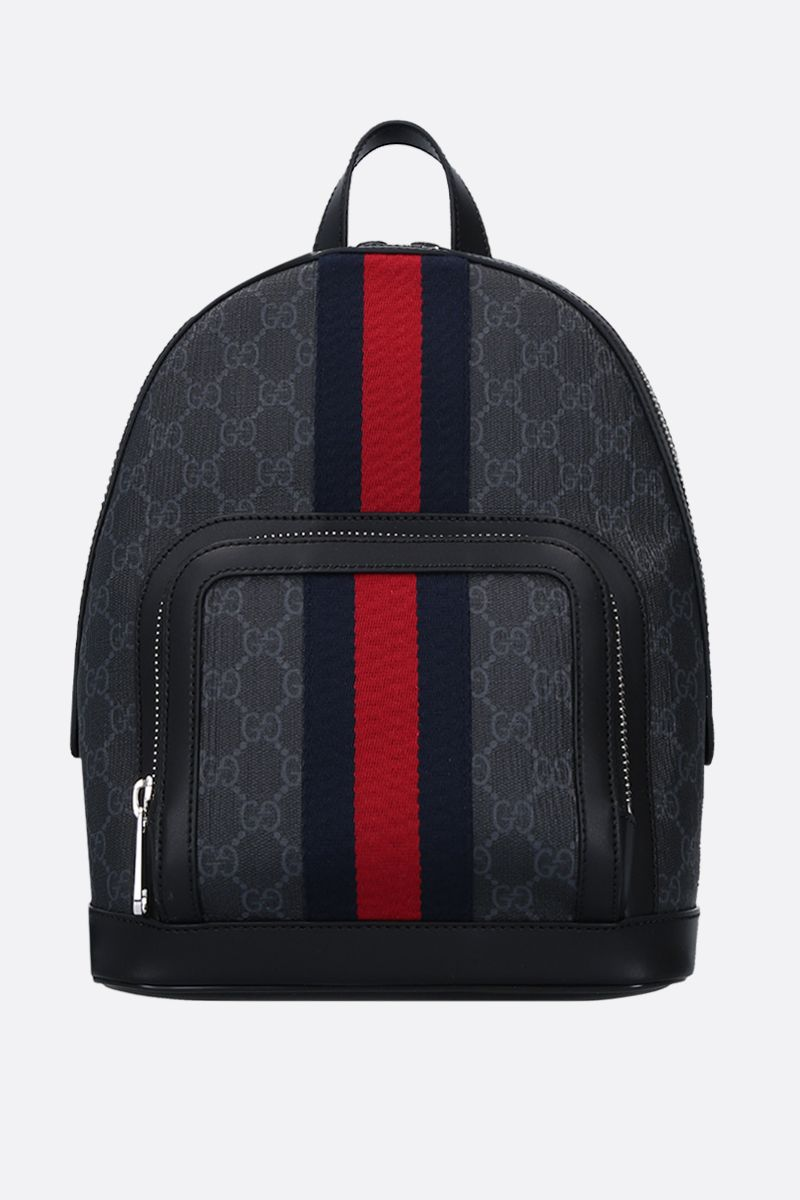 GUCCI: GG Supreme canvas small backpack Color Black_1