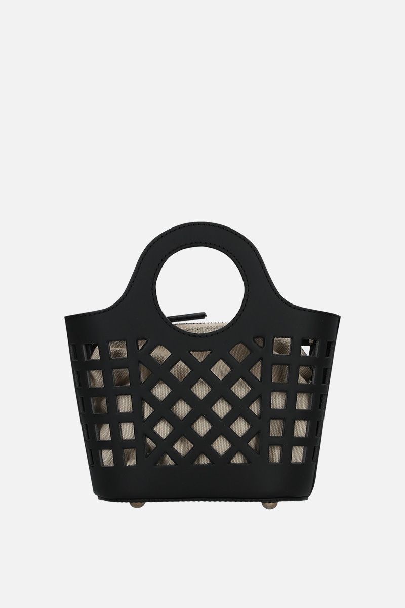 HEREU: borsa a tracolla Colmado mini in pelle cut-out Colore Nero_1