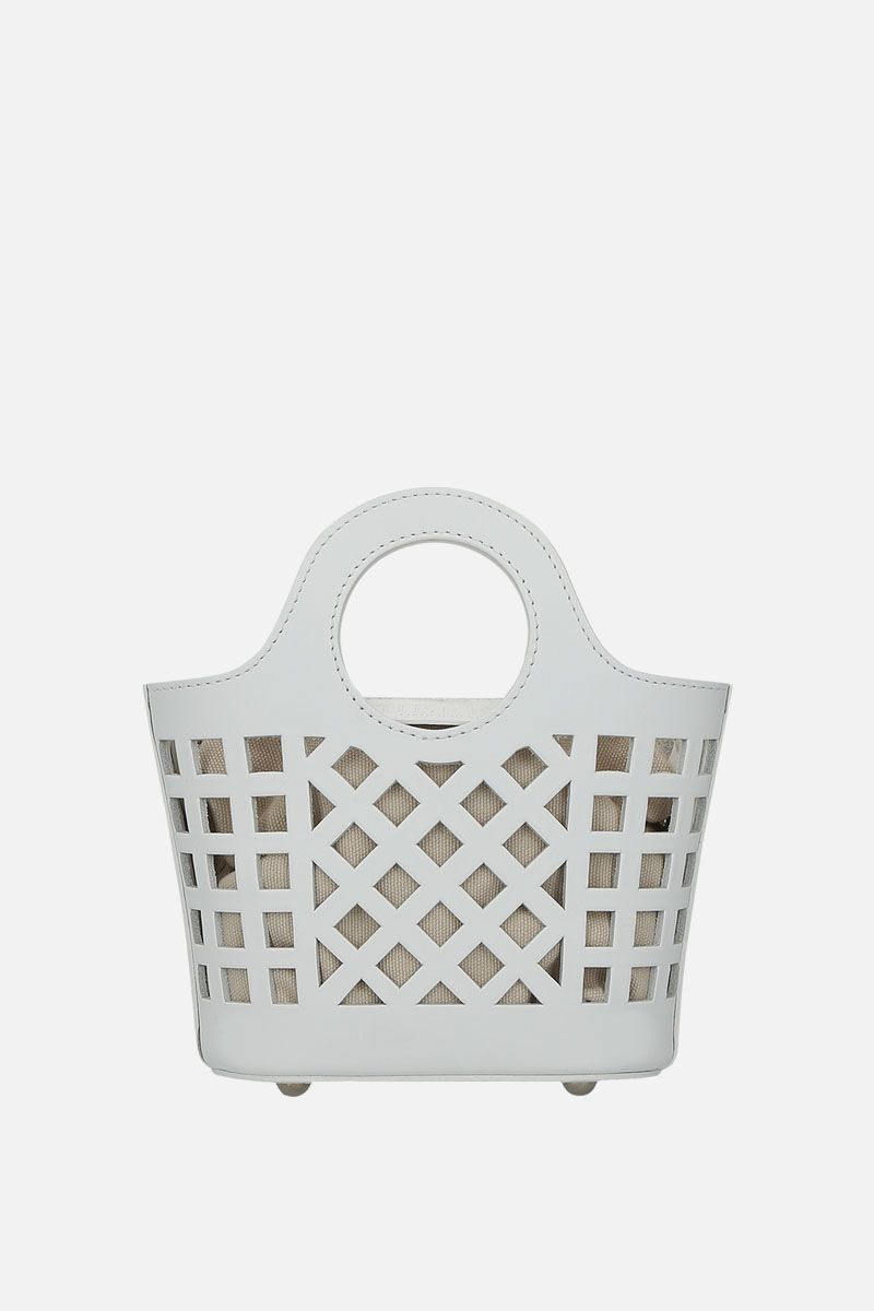 HEREU: borsa a tracolla Colmado mini in pelle cut-out Colore Bianco_1