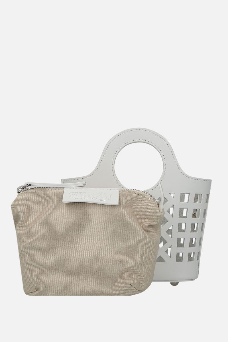 HEREU: borsa a tracolla Colmado mini in pelle cut-out Colore Bianco_2