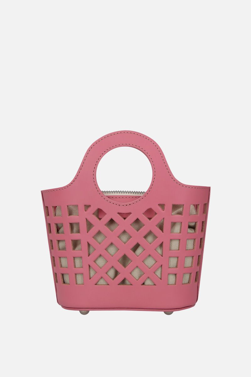 HEREU: borsa a tracolla Colmado mini in pelle cut-out Colore Rosa_1