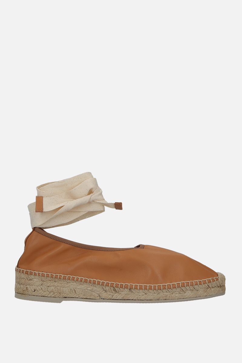 HEREU: Caprala smooth leather espadrilles Color Neutral_1