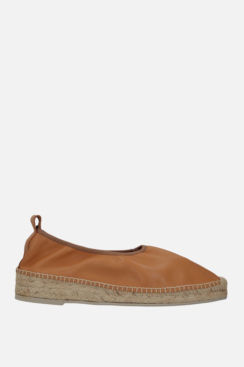 HEREU: Caprala smooth leather espadrilles Color Neutral_2