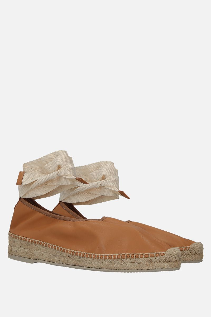 HEREU: Caprala smooth leather espadrilles Color Neutral_3