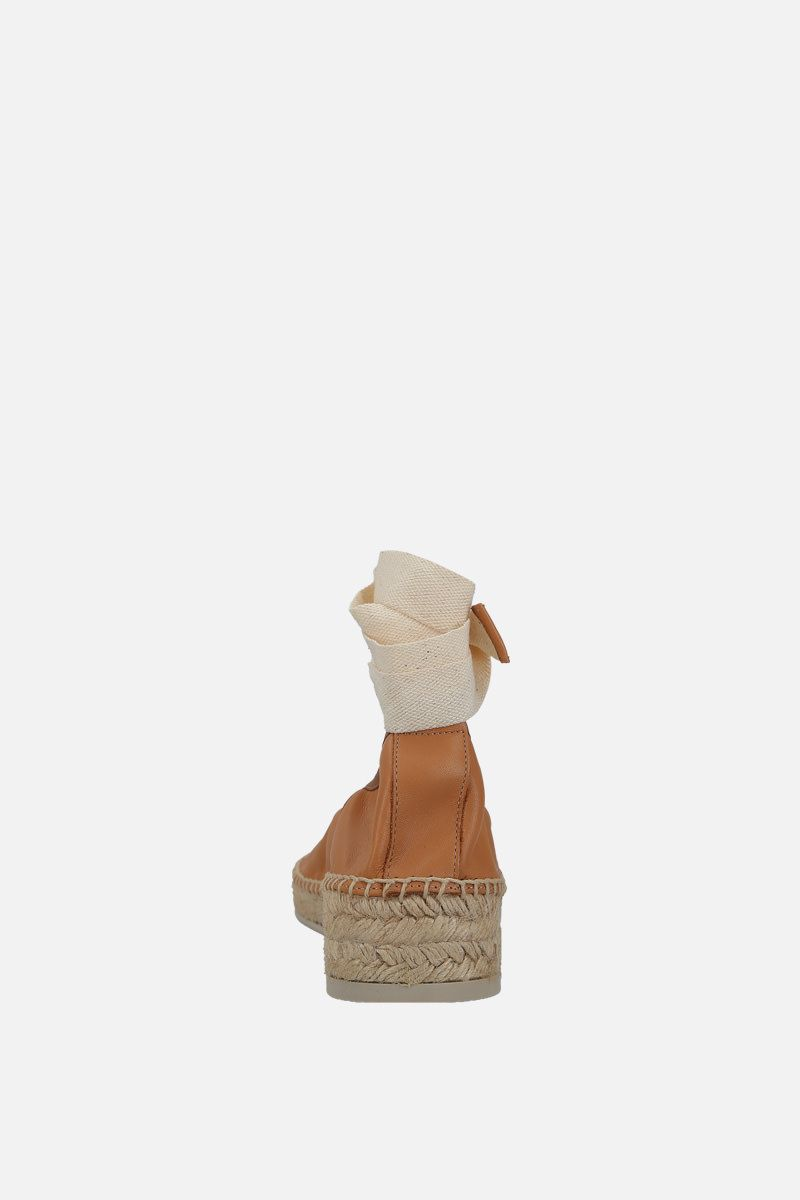 HEREU: Caprala smooth leather espadrilles Color Neutral_4