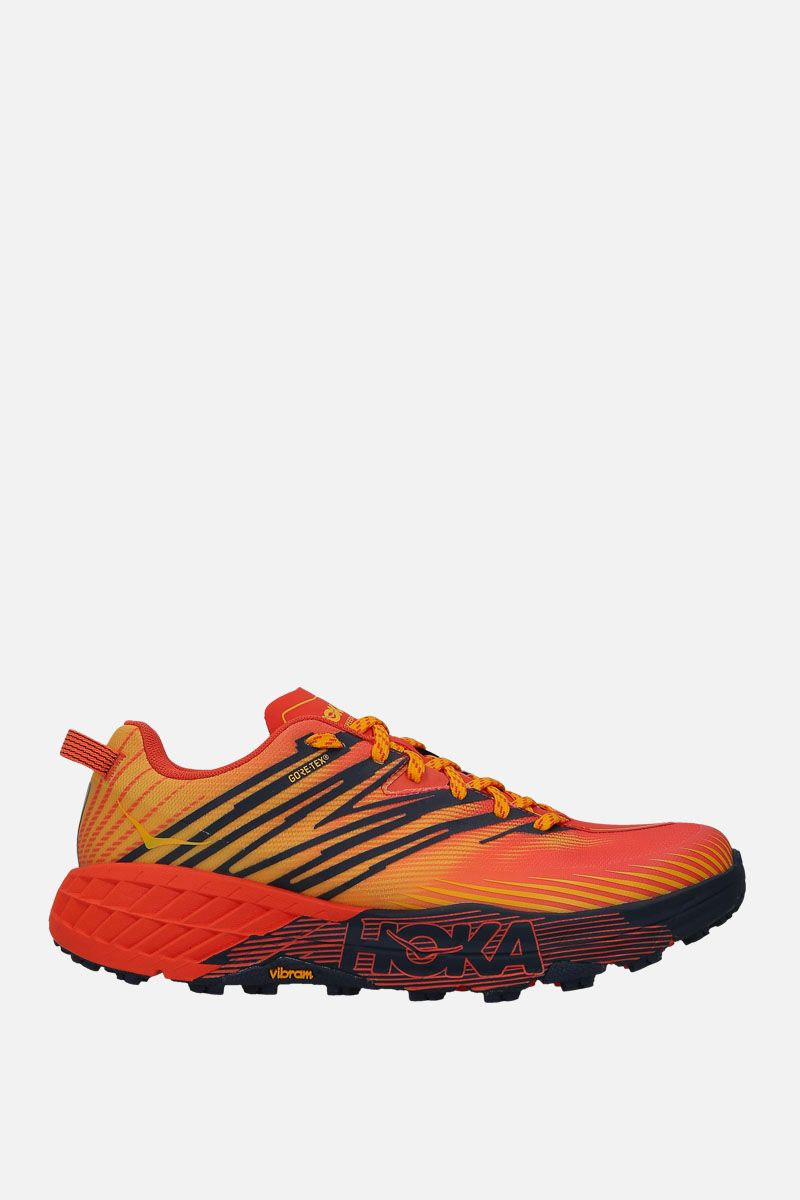 HOKA ONE ONE: Speedgoat 4 GTX tech knit sneakers Color Red