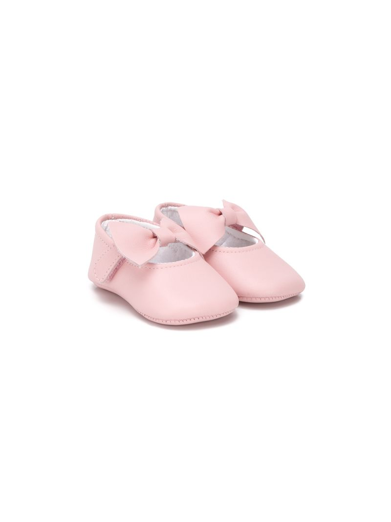 IL GUFO: bow-detailed smooth leather ballerinas_1