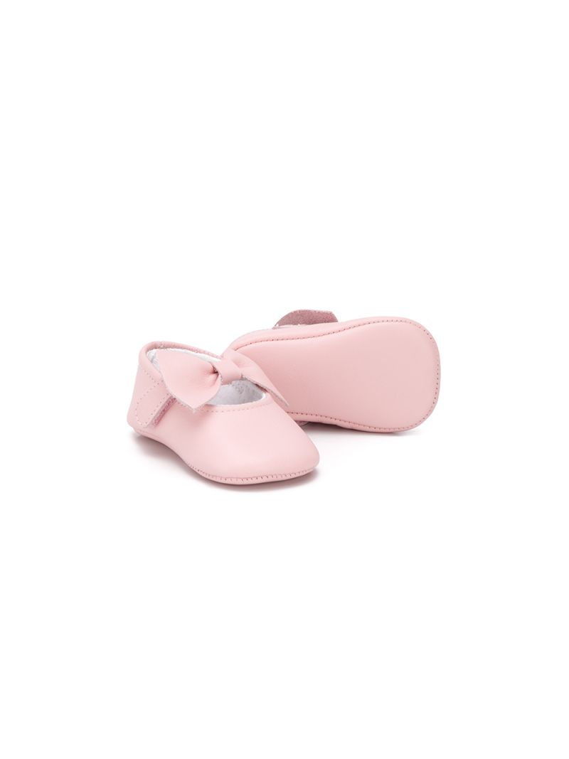 IL GUFO: bow-detailed smooth leather ballerinas_2