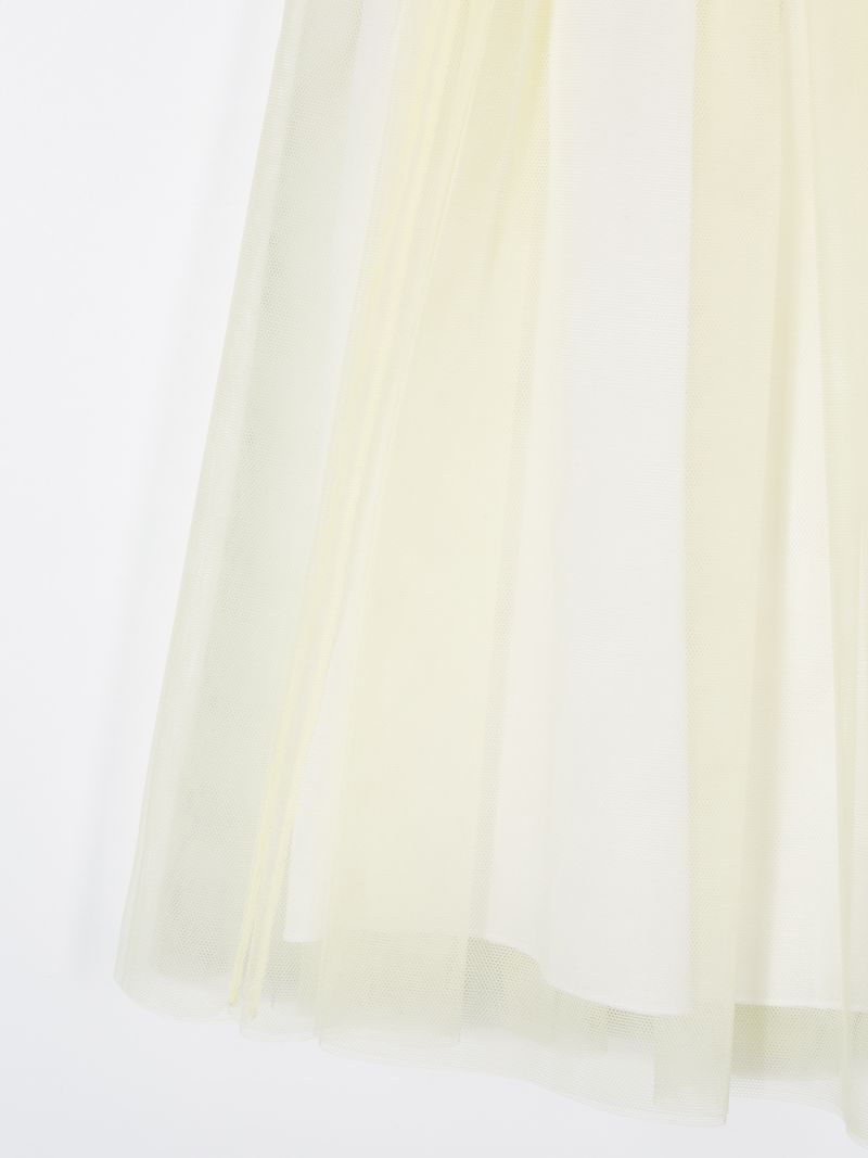 IL GUFO: tulle skirt Color Yellow_3