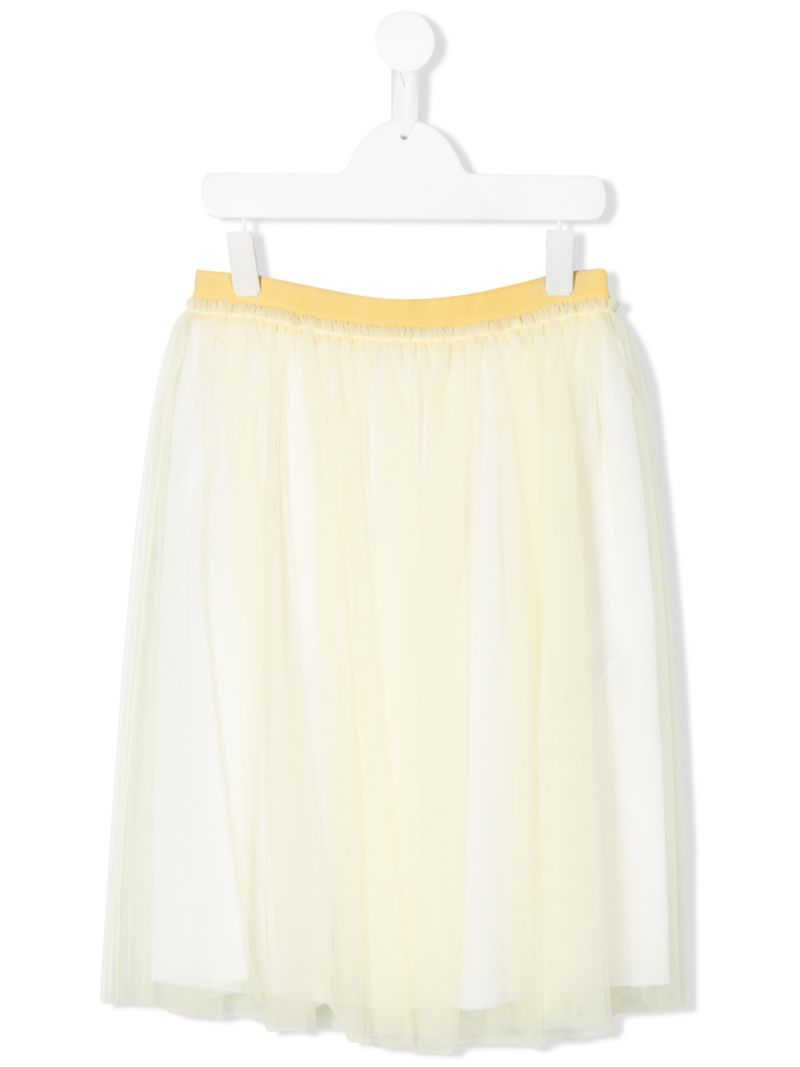IL GUFO: tulle skirt Color Yellow_1