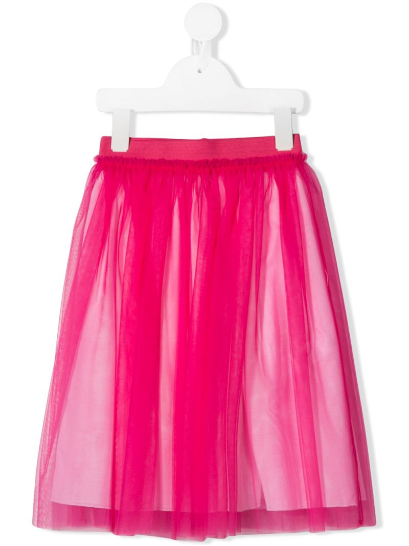 IL GUFO: tulle skirt Color Red_1
