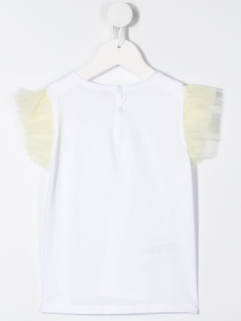 IL GUFO: tulle sleeves cotton t-shirt_2